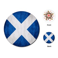 Scotland Flag Surface Texture Color Symbolism Playing Cards (Round)