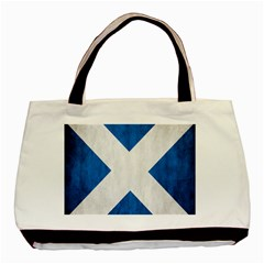 Scotland Flag Surface Texture Color Symbolism Basic Tote Bag