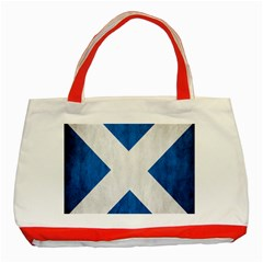 Scotland Flag Surface Texture Color Symbolism Classic Tote Bag (red)