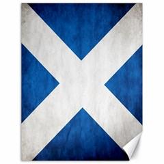 Scotland Flag Surface Texture Color Symbolism Canvas 18  x 24
