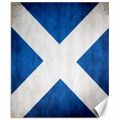 Scotland Flag Surface Texture Color Symbolism Canvas 20  X 24
