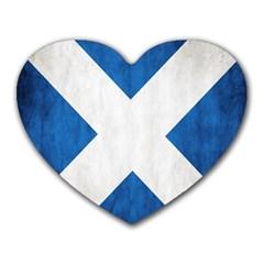 Scotland Flag Surface Texture Color Symbolism Heart Mousepads