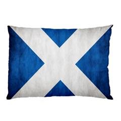 Scotland Flag Surface Texture Color Symbolism Pillow Case