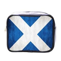 Scotland Flag Surface Texture Color Symbolism Mini Toiletries Bags