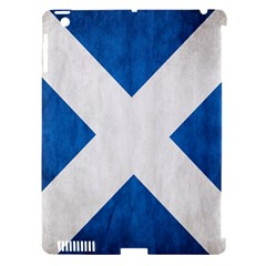 Scotland Flag Surface Texture Color Symbolism Apple iPad 3/4 Hardshell Case (Compatible with Smart Cover)