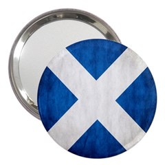 Scotland Flag Surface Texture Color Symbolism 3  Handbag Mirrors