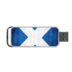 Scotland Flag Surface Texture Color Symbolism Portable USB Flash (One Side)