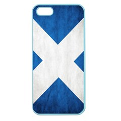 Scotland Flag Surface Texture Color Symbolism Apple Seamless iPhone 5 Case (Color)