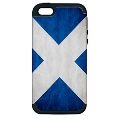 Scotland Flag Surface Texture Color Symbolism Apple iPhone 5 Hardshell Case (PC+Silicone)
