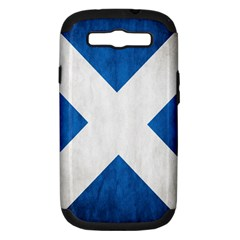 Scotland Flag Surface Texture Color Symbolism Samsung Galaxy S III Hardshell Case (PC+Silicone)