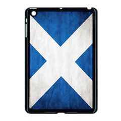 Scotland Flag Surface Texture Color Symbolism Apple iPad Mini Case (Black)
