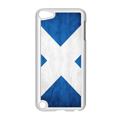 Scotland Flag Surface Texture Color Symbolism Apple iPod Touch 5 Case (White)