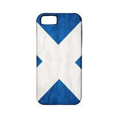 Scotland Flag Surface Texture Color Symbolism Apple iPhone 5 Classic Hardshell Case (PC+Silicone)