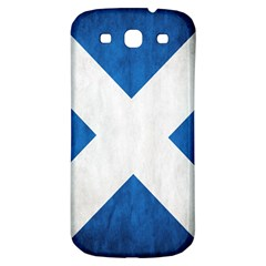 Scotland Flag Surface Texture Color Symbolism Samsung Galaxy S3 S Iii Classic Hardshell Back Case
