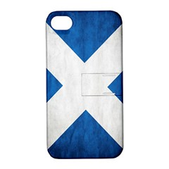 Scotland Flag Surface Texture Color Symbolism Apple iPhone 4/4S Hardshell Case with Stand