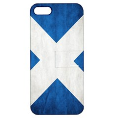 Scotland Flag Surface Texture Color Symbolism Apple iPhone 5 Hardshell Case with Stand