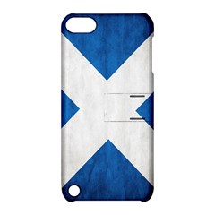 Scotland Flag Surface Texture Color Symbolism Apple iPod Touch 5 Hardshell Case with Stand