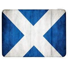 Scotland Flag Surface Texture Color Symbolism Samsung Galaxy Tab 7  P1000 Flip Case
