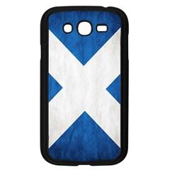 Scotland Flag Surface Texture Color Symbolism Samsung Galaxy Grand DUOS I9082 Case (Black)