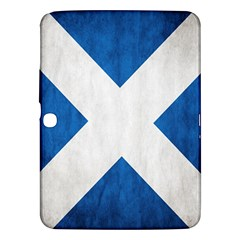 Scotland Flag Surface Texture Color Symbolism Samsung Galaxy Tab 3 (10.1 ) P5200 Hardshell Case