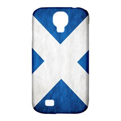 Scotland Flag Surface Texture Color Symbolism Samsung Galaxy S4 Classic Hardshell Case (PC+Silicone)