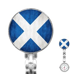 Scotland Flag Surface Texture Color Symbolism Stainless Steel Nurses Watch