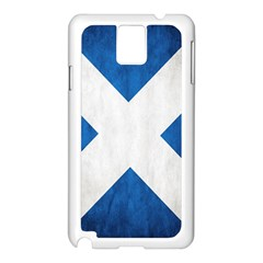 Scotland Flag Surface Texture Color Symbolism Samsung Galaxy Note 3 N9005 Case (White)