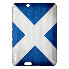 Scotland Flag Surface Texture Color Symbolism Kindle Fire HDX Hardshell Case