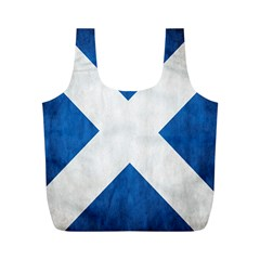 Scotland Flag Surface Texture Color Symbolism Full Print Recycle Bags (M)