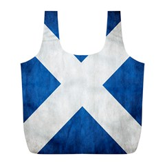 Scotland Flag Surface Texture Color Symbolism Full Print Recycle Bags (L)