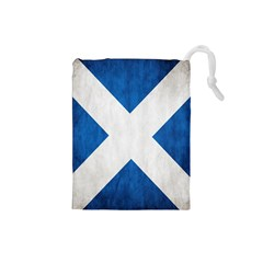 Scotland Flag Surface Texture Color Symbolism Drawstring Pouches (Small)