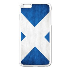 Scotland Flag Surface Texture Color Symbolism Apple iPhone 6 Plus/6S Plus Enamel White Case