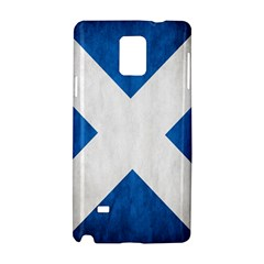 Scotland Flag Surface Texture Color Symbolism Samsung Galaxy Note 4 Hardshell Case