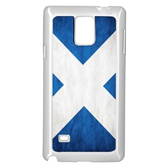Scotland Flag Surface Texture Color Symbolism Samsung Galaxy Note 4 Case (White)