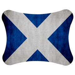 Scotland Flag Surface Texture Color Symbolism Jigsaw Puzzle Photo Stand (bow)
