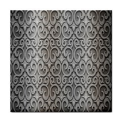 Patterns Wavy Background Texture Metal Silver Tile Coasters