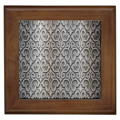 Patterns Wavy Background Texture Metal Silver Framed Tiles