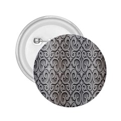 Patterns Wavy Background Texture Metal Silver 2.25  Buttons