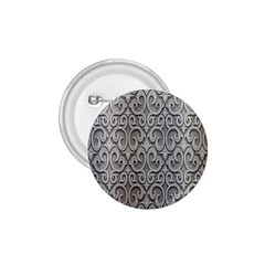 Patterns Wavy Background Texture Metal Silver 1.75  Buttons