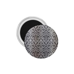 Patterns Wavy Background Texture Metal Silver 1 75  Magnets