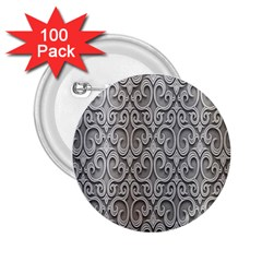 Patterns Wavy Background Texture Metal Silver 2 25  Buttons (100 Pack)