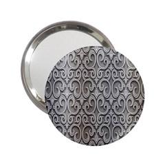 Patterns Wavy Background Texture Metal Silver 2.25  Handbag Mirrors