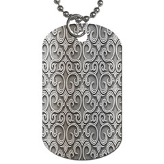 Patterns Wavy Background Texture Metal Silver Dog Tag (One Side)