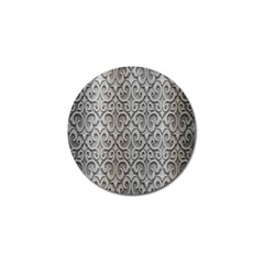 Patterns Wavy Background Texture Metal Silver Golf Ball Marker (4 pack)