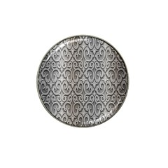 Patterns Wavy Background Texture Metal Silver Hat Clip Ball Marker (4 Pack)