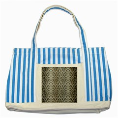 Patterns Wavy Background Texture Metal Silver Striped Blue Tote Bag