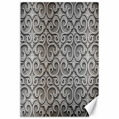 Patterns Wavy Background Texture Metal Silver Canvas 12  X 18
