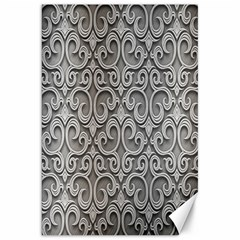 Patterns Wavy Background Texture Metal Silver Canvas 20  x 30