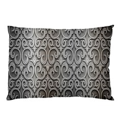 Patterns Wavy Background Texture Metal Silver Pillow Case