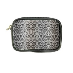Patterns Wavy Background Texture Metal Silver Coin Purse